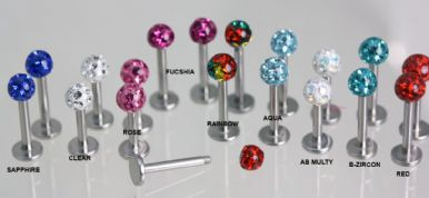 STUDS Pair - Labret Resin Coated Ball